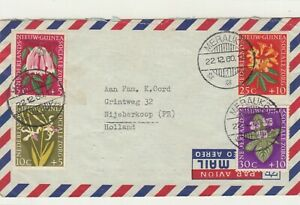 Netherlands New Guinea / Airmail / Flowers / Charity Stamps