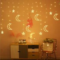 Star Moon Fairy Lights Led Curtain String Light Garland Decorations 110v/220v