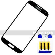 Dark Blue Front Glass Screen Lens For Samsung Galaxy S4 GT-I9515 SGH-1337 &Tools
