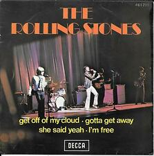 """THE ROLLING STONES """"Get off of my cloud"""" EP 7"""" FRANCE French olympia IMPOSSIBLE"""