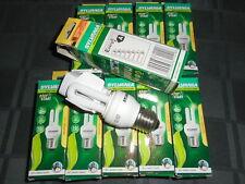 Lot 10 Ampoules 5W Equivalent a 25W  Sylvania E27 Mini-Lynx Fast Start Energie A