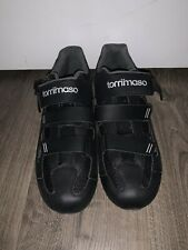Tommaso Strada 200 Black cycling shoes- without cleats - Eu 47 Us 13