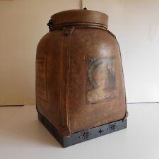 Coffre à linge rangement Inde vintage art déco fait main handmade storage chest