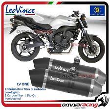 Leovince LV One 2 Terminali Scarico carbonio Yamaha FZ6 S2 /ABS 2007>2010