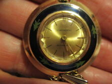 """CONTINENTAL Vintage 1960's Wind Up Pendant Watch on 24"""" 120 12 KT G.F. Chain"""