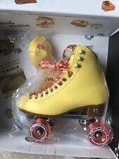 New In Box Moxi Beach Bunny Roller Skates Size 8 Strawberry Lemonade Yellow Pink