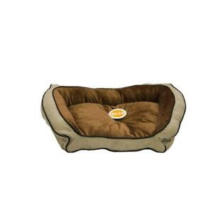 Pet Bed Small Bolster Couch Micro Suede Removable Cover Liner Recycled Plastic