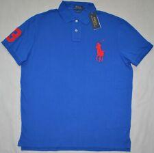 New L XL XXL polo RALPH LAUREN Mens Big Pony Shirt Classic fit Blue polo top