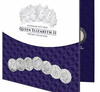 1966-2019 50c ELIZABETH II Portrait 7-Coin Collection