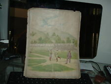 1890's Baseball Scrapbook Page Kinney Bros Tobacco Die Cuts National game