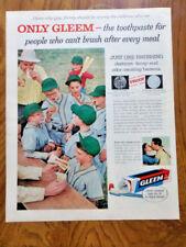 1957 Gleem Toothpaste Ad  Little League Baseball Theme