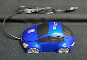 Blue Car USB Optical Computer Mouse, New