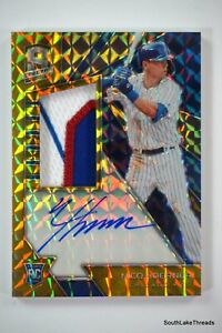 2020 Chronicles Spectra Nico Horner Gold RPA #'d 1/10! Chicago Cubs Sick Patch