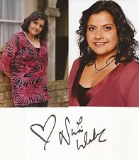 EASTENDERS* NINA WADIA 'ZAINAB' SIGNED 3x5 WHITECARD+UNSIGNED PHOTOS+COA