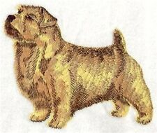 "9 x 12"" Embroidered Quilt Block - Pre Order - Norfolk Terrier Dog"