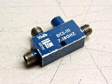 DCS-111 RF Microwave Directional Coupler 10dB 7-18GHz SMA