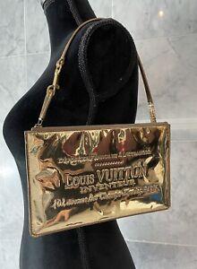 Authentic Louis Vuitton Gold Miroir Mirror Plate Clutch