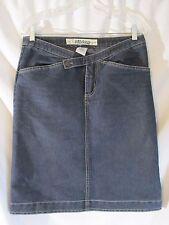 """Billabong Womans Size 7 skirt Blue Jean Knee Length 31"""" Waist  23"""" Long    #8"""