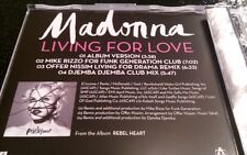 Madonna Living For Love New Rare 4 Track CD Collectable Remixes Deleted Rebel