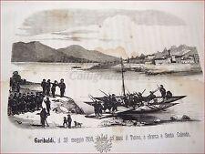 RISORGIMENTO MOTI 1848 GARIBALDI INCISIONI: Ottolini, Cacciatori delle Alpi 1860