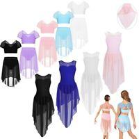 Girls Lyrical Dance Leotard Ballet Latin Dress Dancewear Costumes Party Outfit