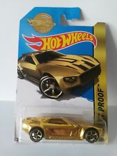 BULLET PROOF GOLD 2016 Hot Wheels DieCast TROPHY CAR SPECIAL EDITION LIMITED
