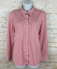 Womens Ladies Ralph Lauren Striped Long Sleeve Shirt Red Sz XL / Extra Large