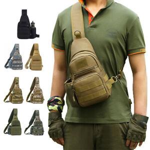 Tactical Sling Chest Pack Molle Military Nylon Shoulder Bag Men Crossbody Bag