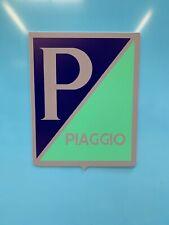 ENSEIGNE VESPA PIAGGIO  logo années 60  ( 50 cm x 39 cm )