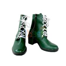 Sailor Moon Kino Makoto Sailor Jupiter Cosplay Shoes Green Boots Customized Size