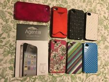 iPhone 4/4S Cases (Lot of 7) + Bonus Screen Protector -In Various Styles