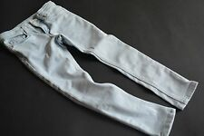 H&M SKINNY FIT Tolle helle slim JEANS mit Silberfäden Gr.104