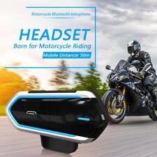 Bluetooth4.0 Motorcycle-Motorbike Helmet Intercom-Headset Headphone FM Radio GPS