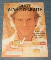 """1978 Winston Cigarettes Vintage Ad """"Taste Winston Lights"""""""