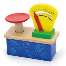 Waage Holz Spielwaage Tellerwaage Kaufladen Kaufmannsladen Spielzeug Zubehör