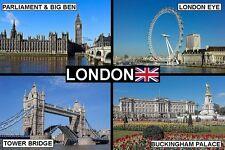 SOUVENIR FRIDGE MAGNET of LONDON BY DAY