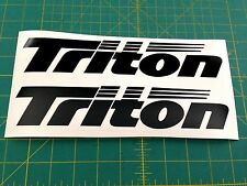 TRITON  BOATS  Sticker DECAL YOU GET 2  BLACK  Bass Boat