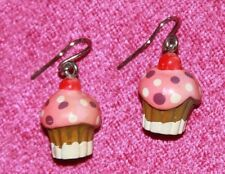 Dangly cupcake earrings