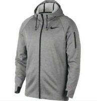 Nike Therma Mens Hoodie Grey Size M Sportswear Training Full Zip Pullover Top