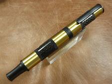 Monteverde Regatta Sport Fountain Pen Carbon Fiber/Brass Fine Nib New/Box