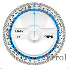 Helix 10cm 360 Degree Protractor (pack of 50) H03040