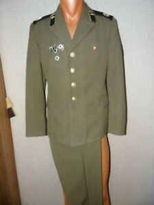 USSR Soviet army military ceremonial suit Tanker Sergeant tank crew 5 pins 1979
