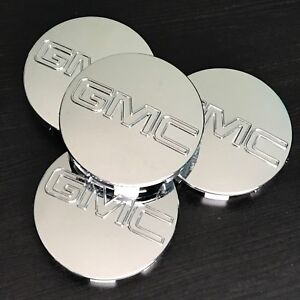 4 Chrome Center Wheel Center Hub Caps For GMC Sierra Denali Yukon 83MM 3.25""