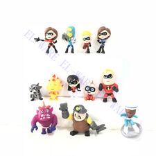 12 Pcs Set The Incredibles 2 Cartoon Movie Mini PVC Figures Model Kids Toys Gift