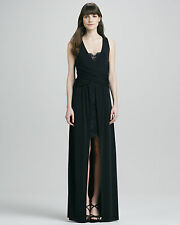 Alice By Temperley Black Alcazar Lace detail Jersey Gown Dress SIZE 8 SAMPLE