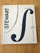 Single Variable Calculus Volume 1 by James Stewart (2010, Hardcover)