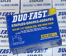 "Duo Fast 5010DSS 5010-DSS 5/16"" Stailess Steel 1/2"" Wide Crown Staples, 5,000/Bx"