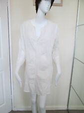 NEW LOOK - WHITE/CREAM FLORAL LONG SLEEVED, BUTTON FRONT MINI DRESS SIZE 10