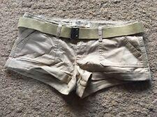 "Hollister Socal Elastizado W27"" 10 Caqui Marrón Chino Verano Shorts Hot Pants"