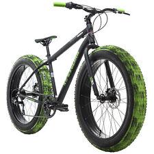 Fatbike 26'' Mountainbike  Alu Crusher schwarz-grün 7 Gänge RH 46 cm 277M